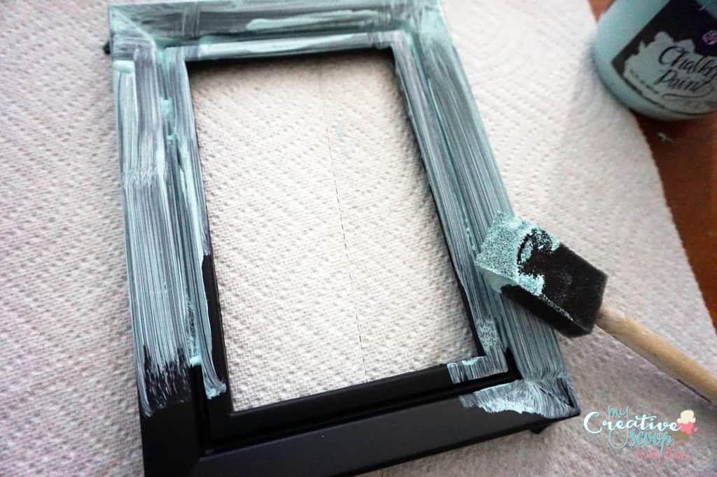 DIY Chalkboard Burlap Frame 1