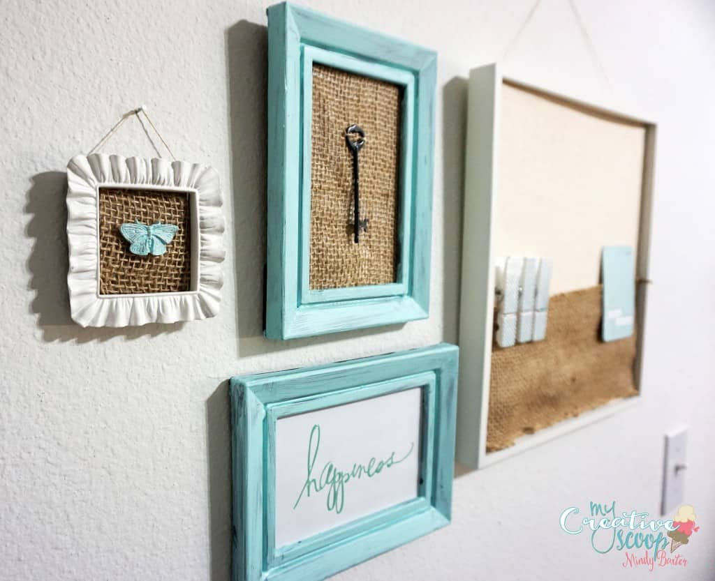 DIY Chalkboard Burlap Frame