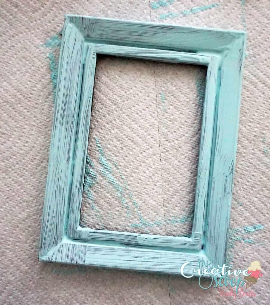 DIY Chalkboard Burlap Frame 4