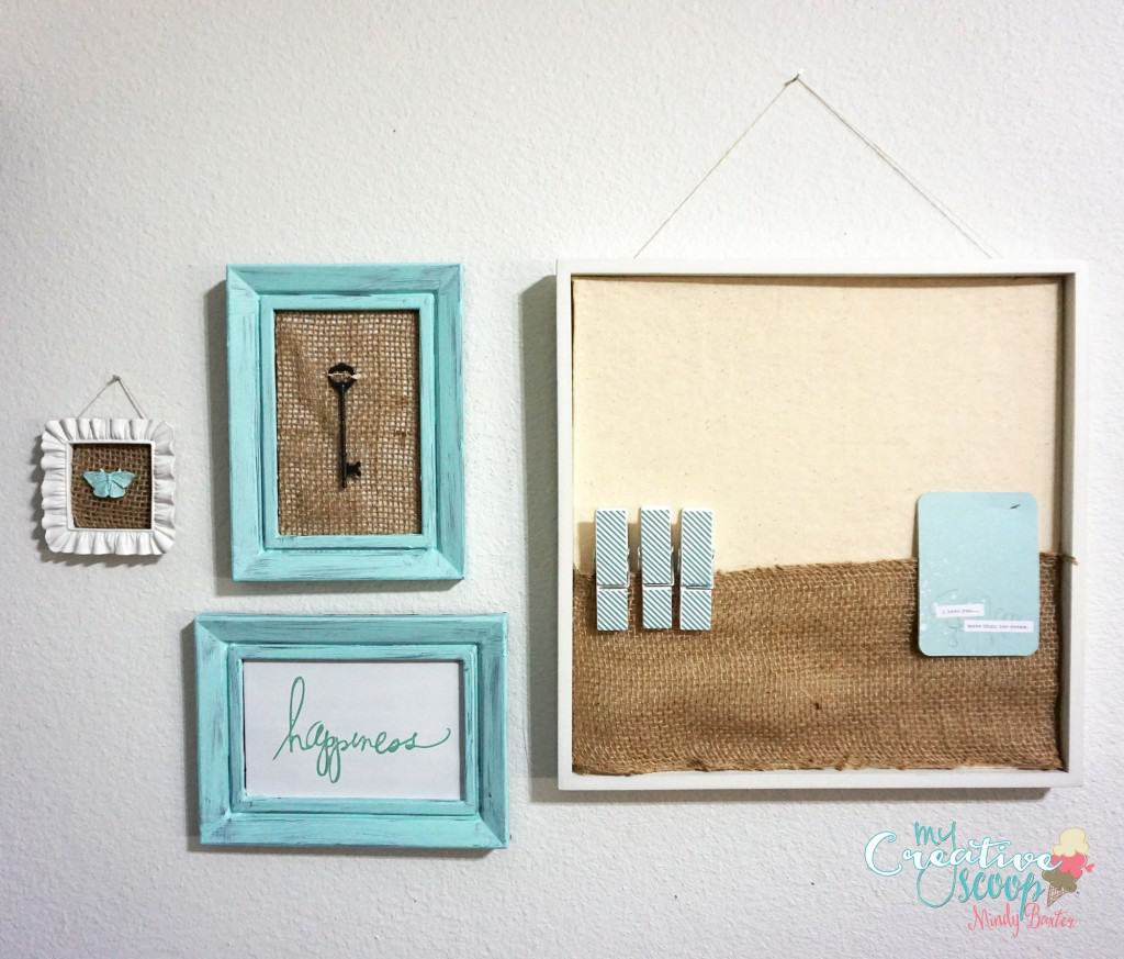 DIY Chalkboard Burlap Frames Set