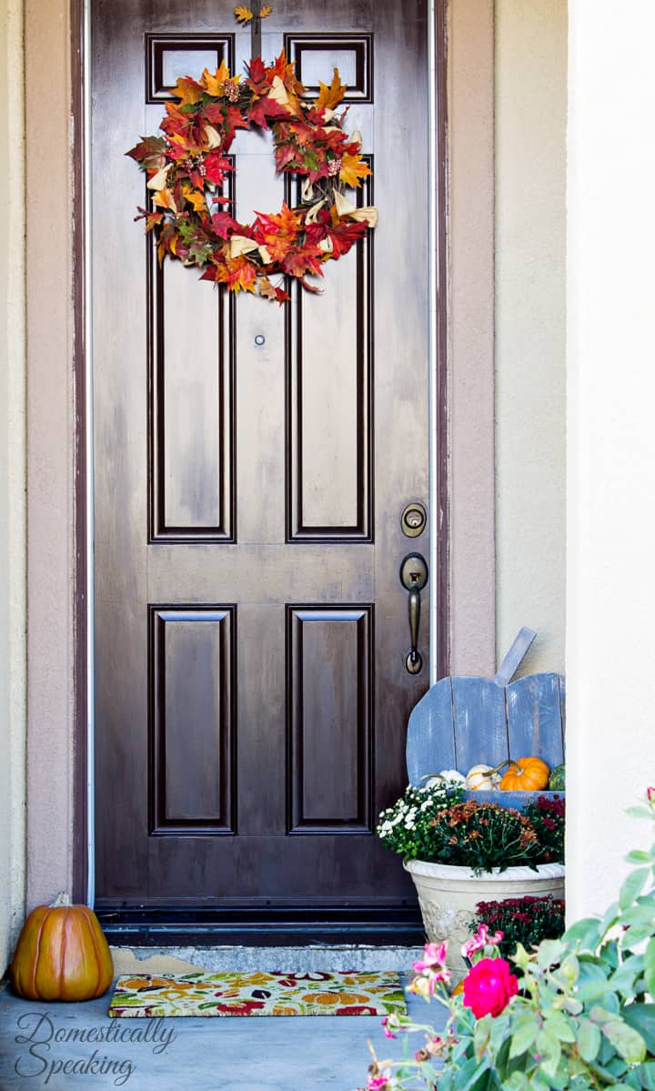 DIY Rustic Pumpkin for your Porch 4