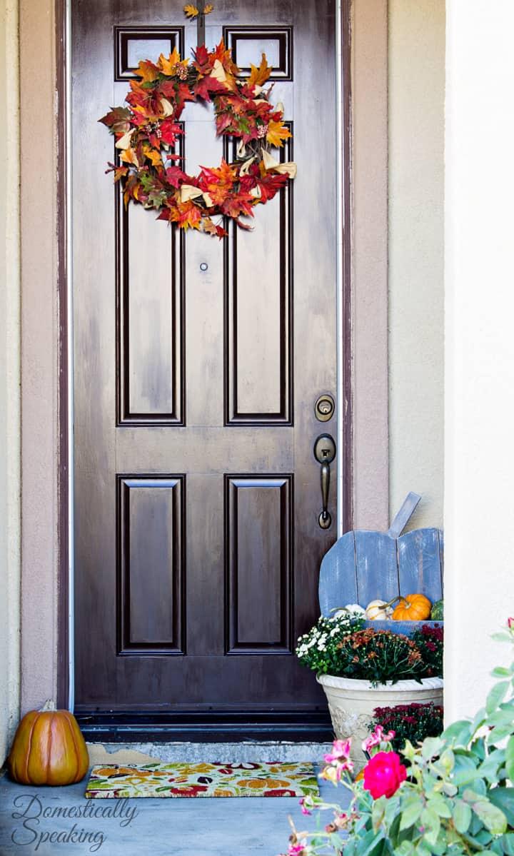 DIY Rustic Pumpkin for your Porch 4