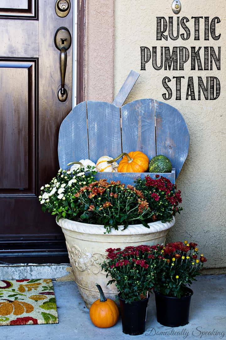 DIY Rustic Pumpkin for your Porch