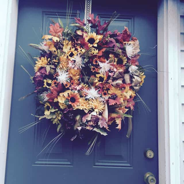 Double Fall Wreath from Our Crafty Mom