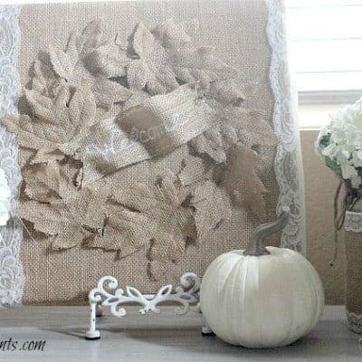Fall Burlap Art