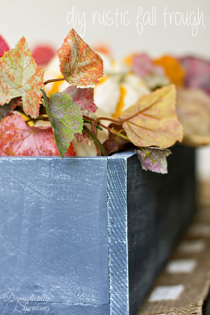 Fall Rustic Trough an easy DIY project you can make too