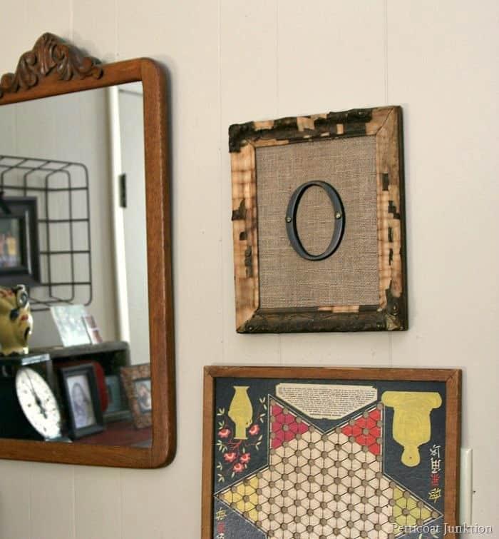 Framed Burlap Monogram Wall Art
