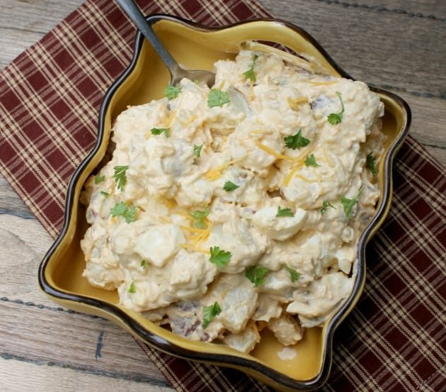 Gluten-Free-Bacon-and-Chipotle-Potato-Salad from Kicking it with Kelly