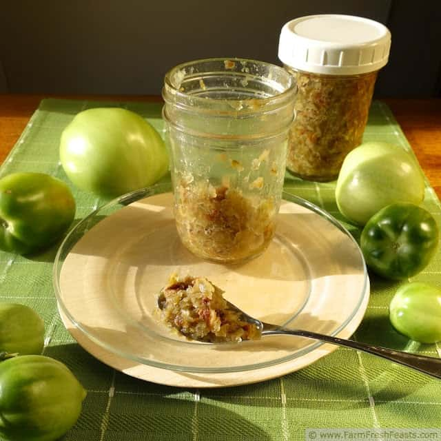 Green Tomato Bacon Jam from Farm Fresh Feasts