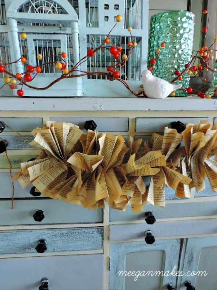 Diy Book Page And Burlap Garland Tutorial Domestically Speaking
