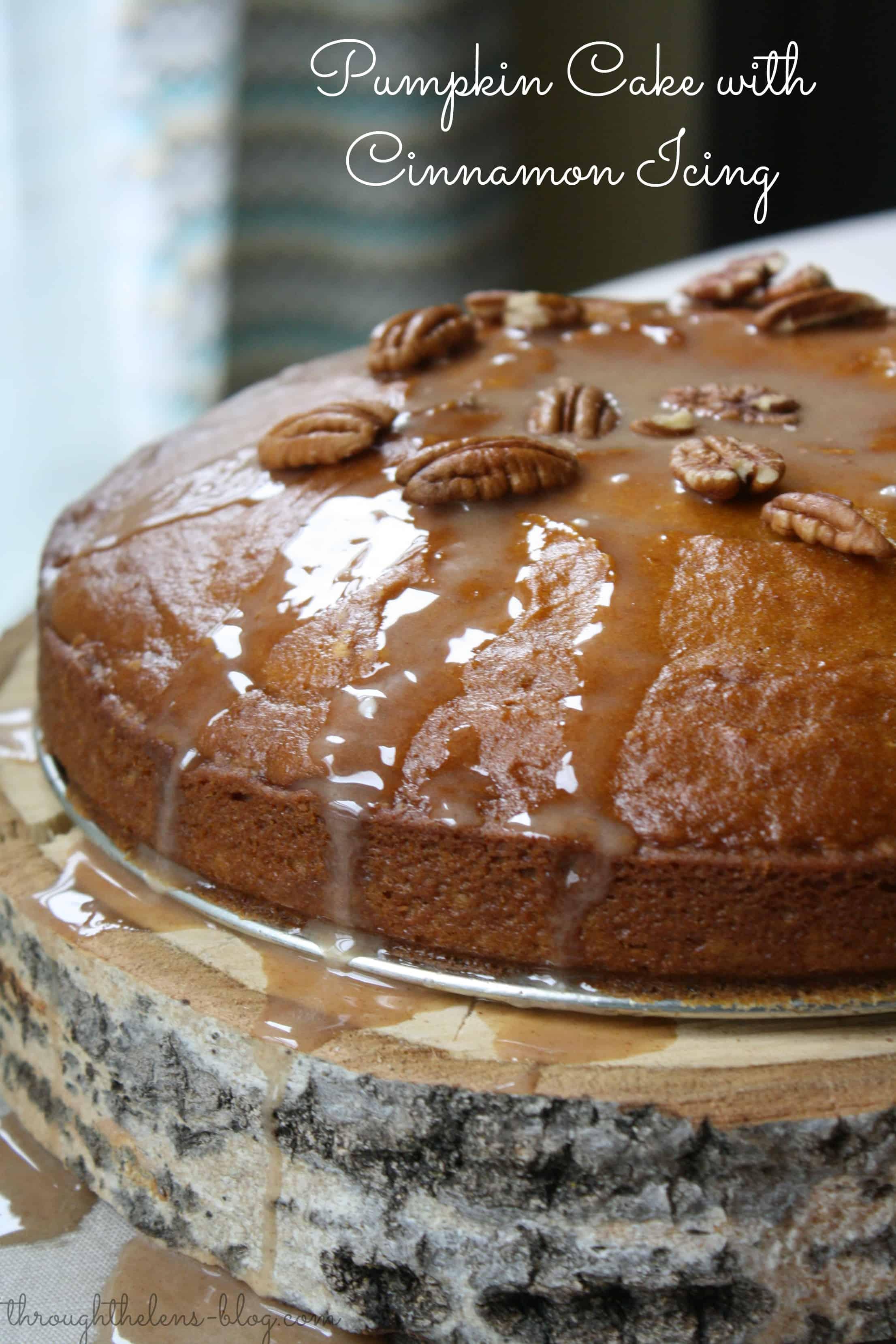Pumpkin Cake with Cinnamon Icing