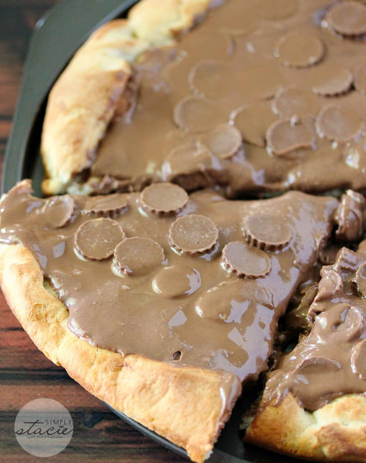 Reese Peanut Butter Pizza from Simply Stacie