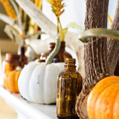 Rustic Autumn Mantel