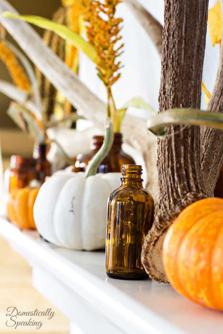 Rustic Autumn Mantel