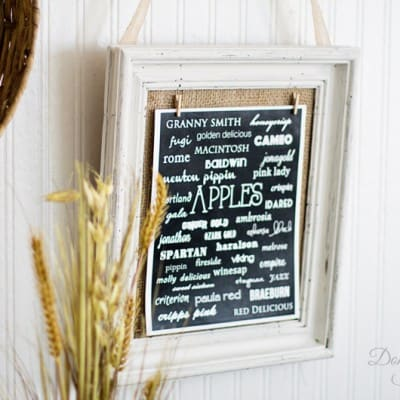 Thrift Store Frame with Free Apples Printable