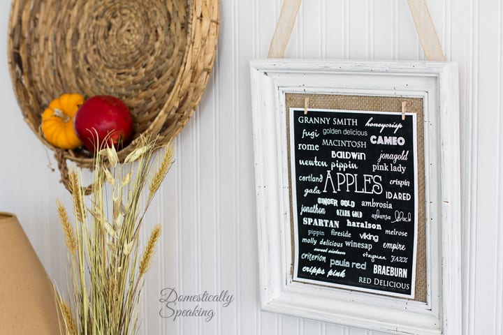 Thrift Store Frame Makeover and Apple Varieties Printable 4