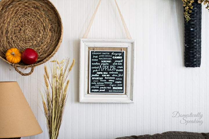Thrift Store Frame Makeover and Apple Varieties Printable 5