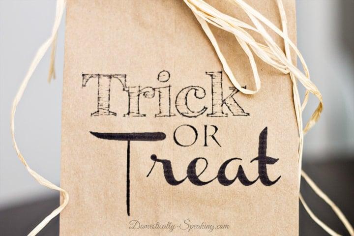 Trick or Treat Brown Paper Bag Printable 4