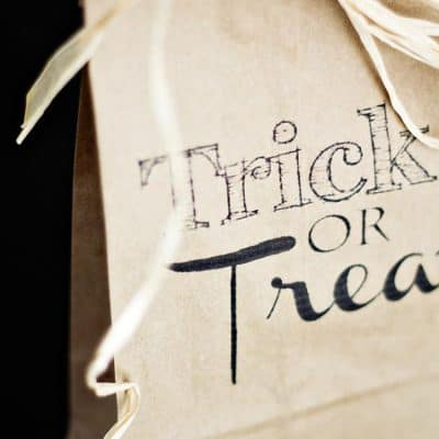 Trick or Treat Brown Bag Printable