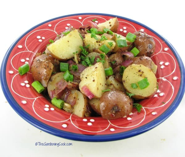 Tuscan Bacon Potato Salad from The Gardening Cook