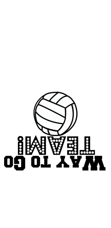 image relating to Printable Volleyball named Sports activities Goodie Baggage Printable - Locally Chatting