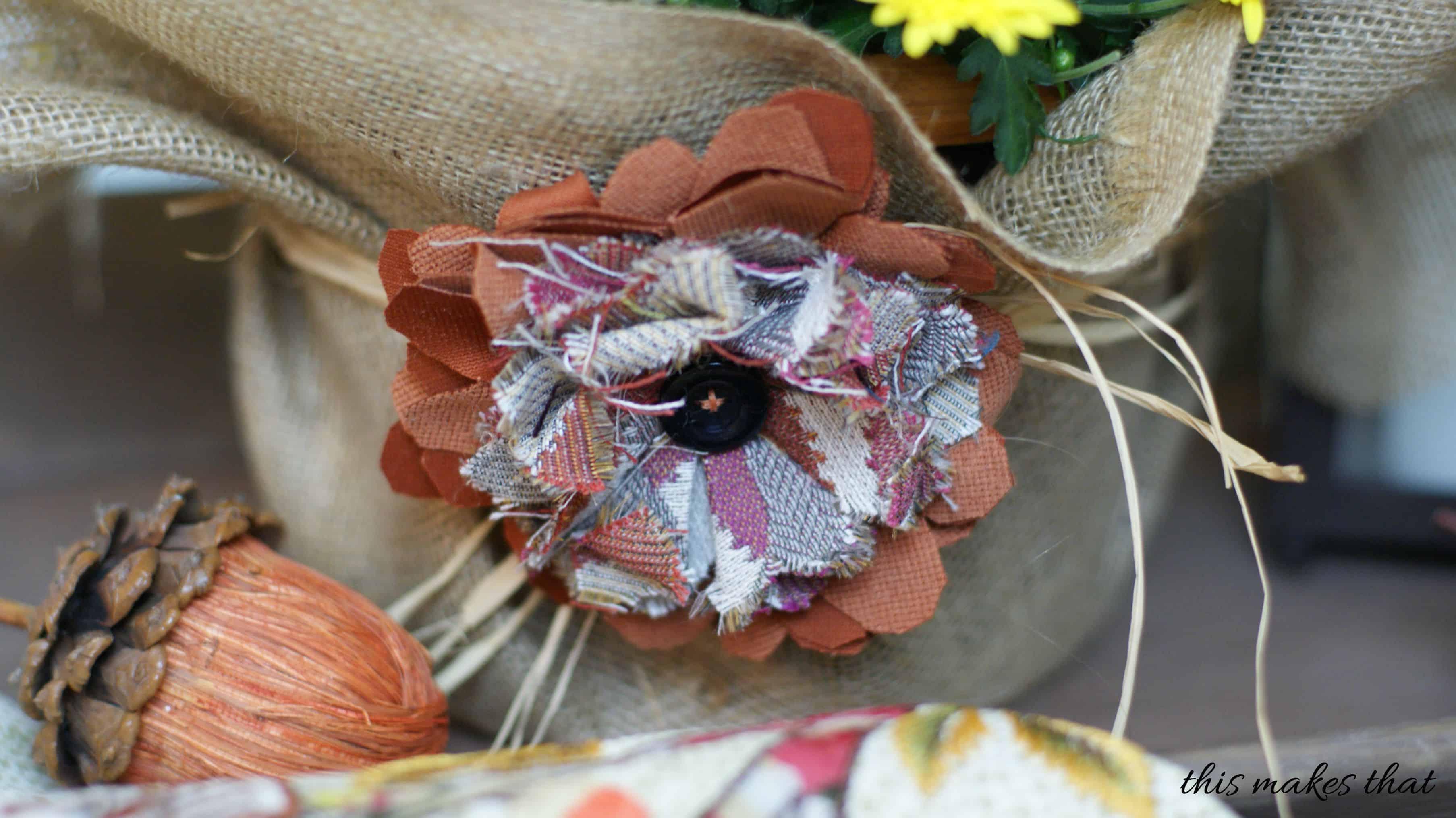closeup fabric flower