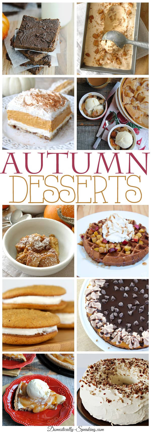 Autumn Desserts lots of pumpkin and apple