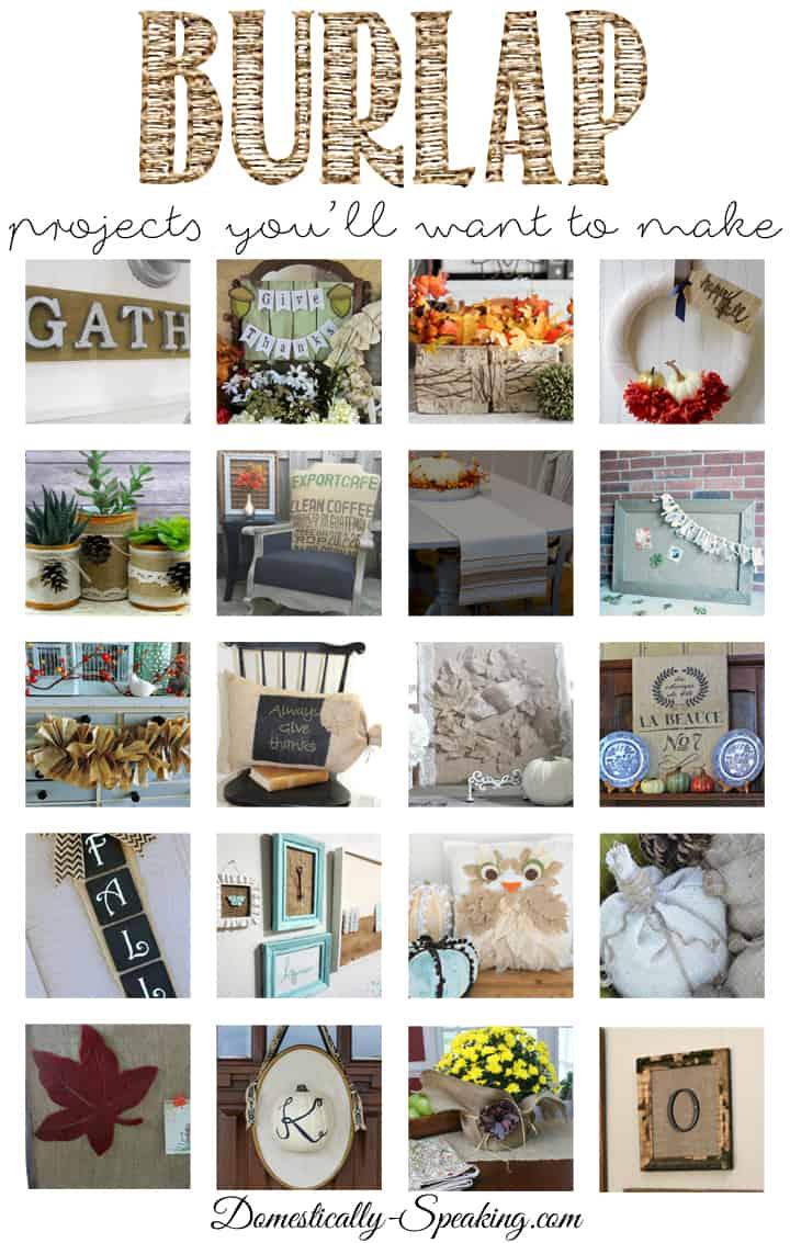 Burlap Lover Series 2015 - amazing burlap projects