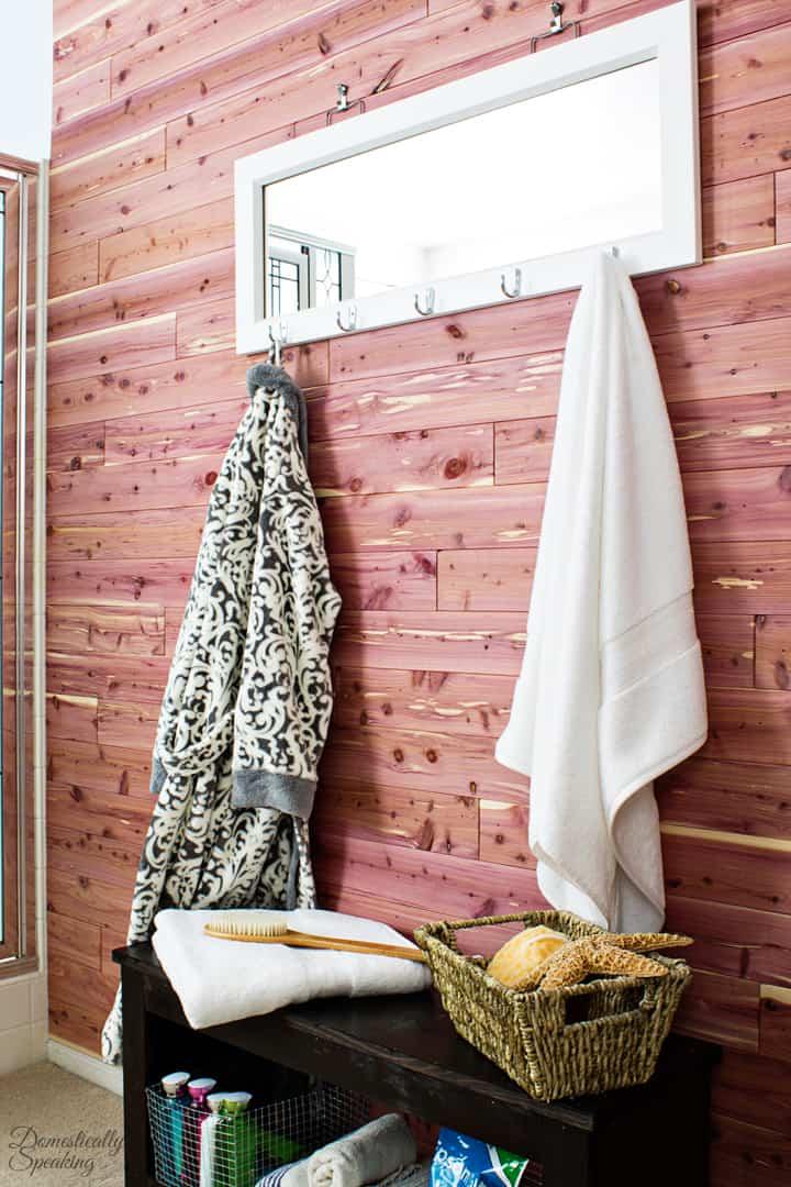 Cedar Planked Bathroom Wall 4