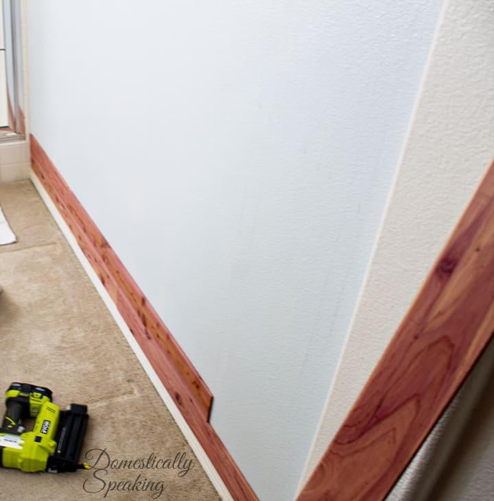 Cedar Planked Bathroom Wall 6