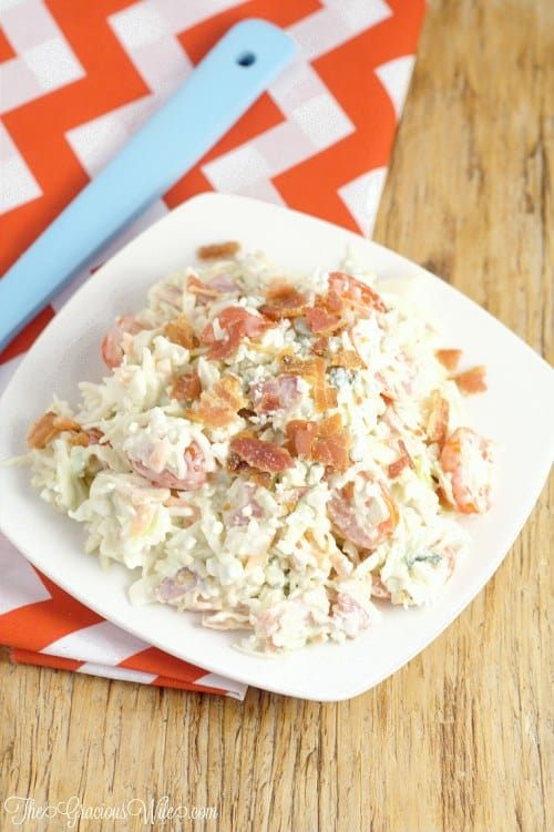 Creamy-Coleslaw-with-Bacon from The Gracious Wife