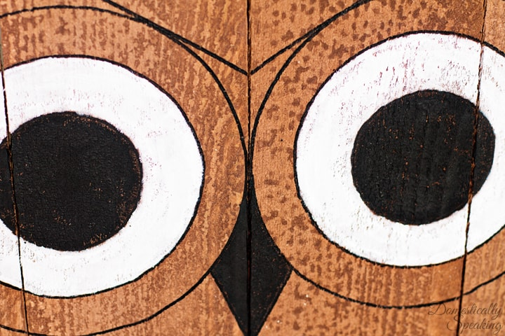 DIY Easy Wood Owl 1