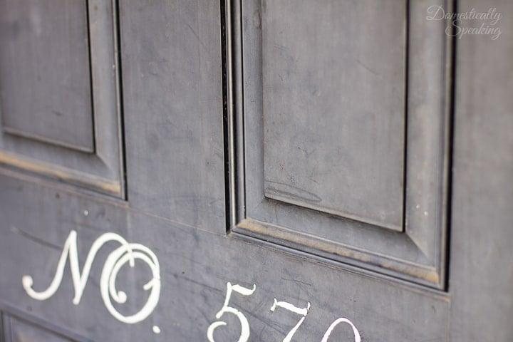 Front Door Before Gel Stain 1