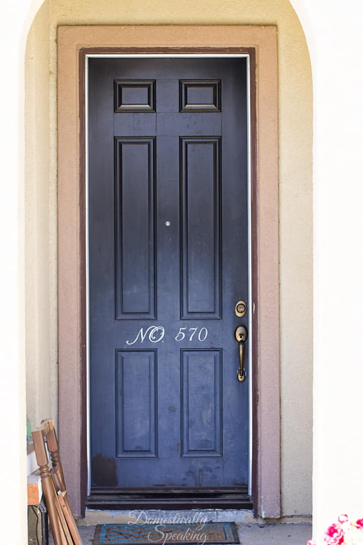 Front door stain how to stain your front door refresh for Front door furniture sets