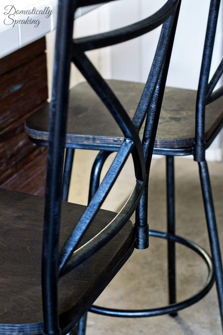 Industrial Barstool Makeover