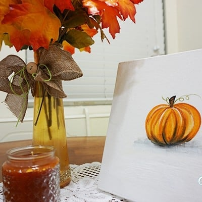 Paint Your Own Pumpkin Canvas