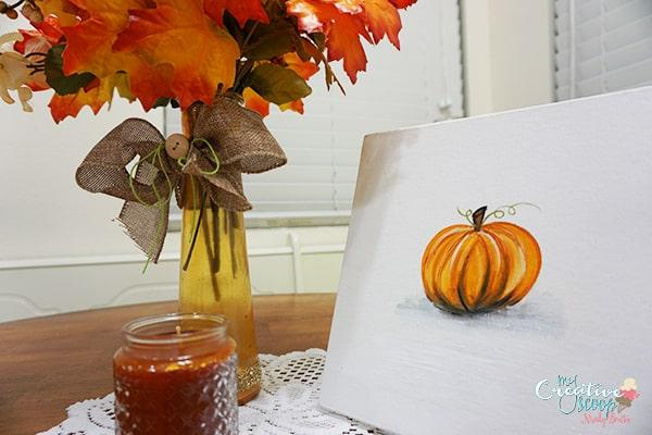 Paint Your Own Pumpkin Canvas