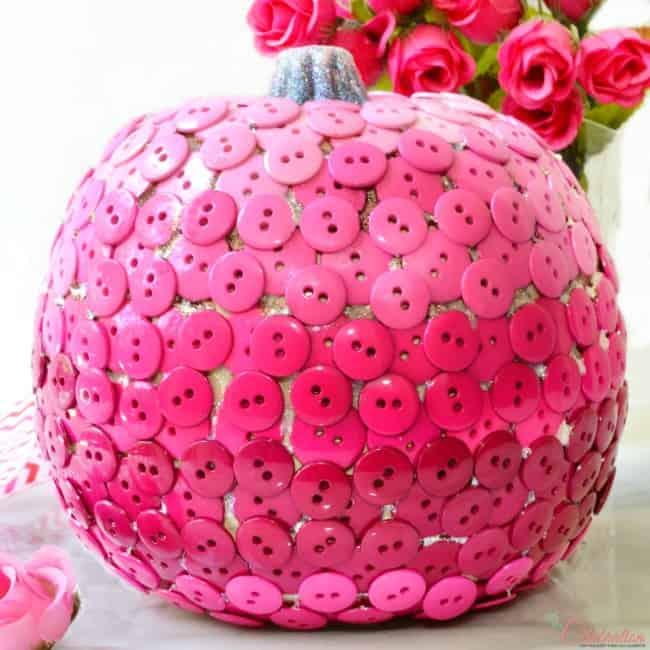 Pink Ombre Button Pumpkin from Little Miss Celebration