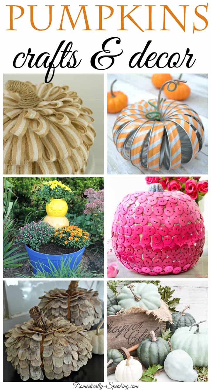 Pumpkins crafts and decor idea for your home