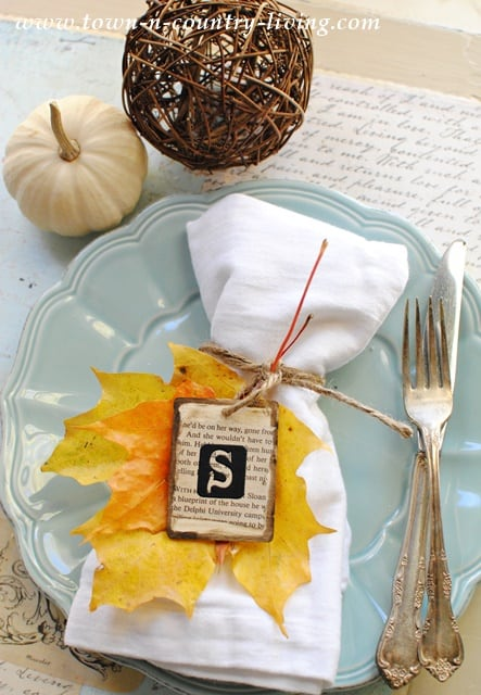 Autumn-Place-Card from Town n Country Living