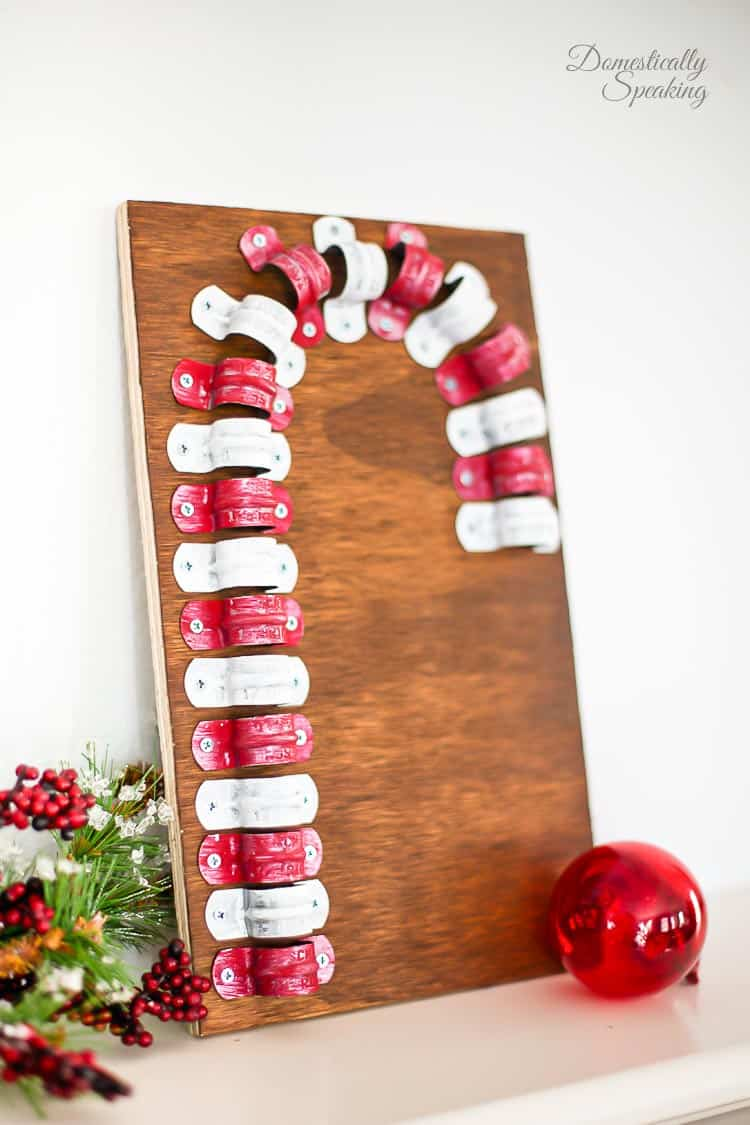 Rustic Candy Cane with Clamps