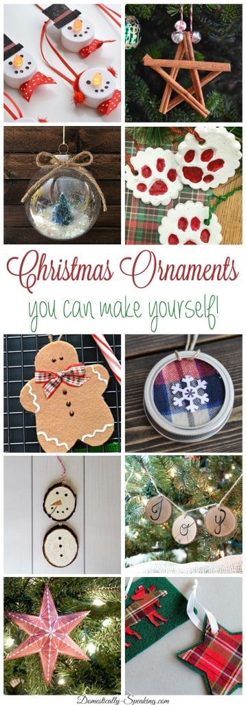 DIY Christmas Ornaments you can make yourself