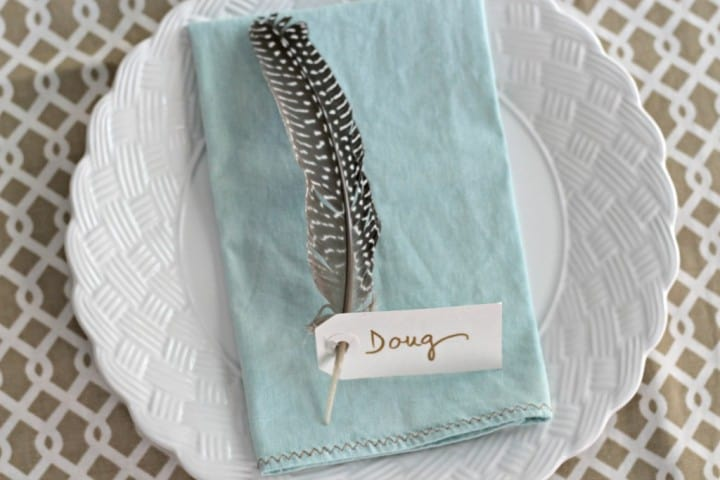 Feather-Place-Cards from Organize Your Stuff Now