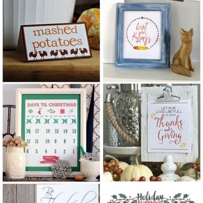 Free Holiday Printables… Thanksgiving and Christmas