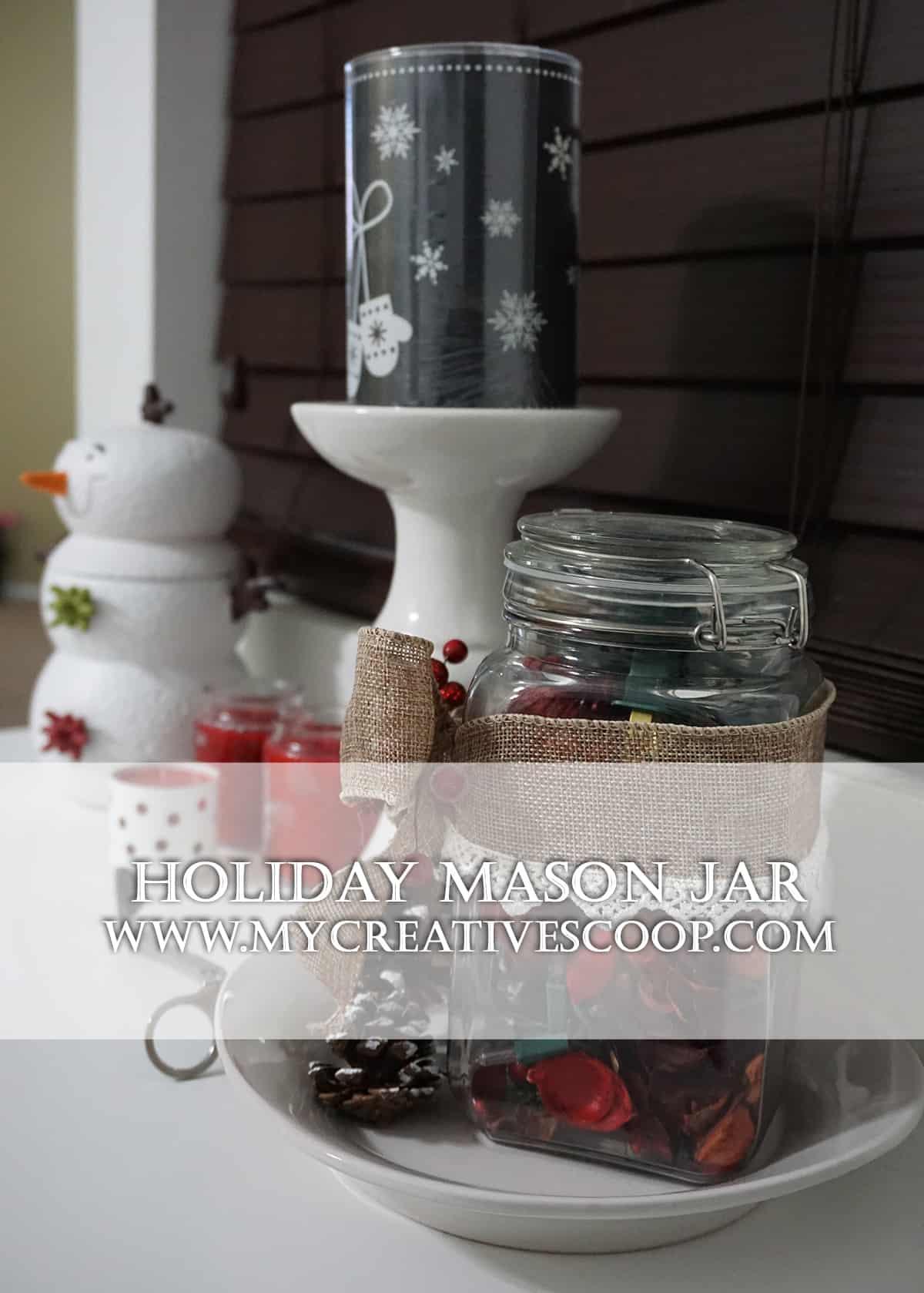 Holiday Mason Jar – 5 Minute Crafts