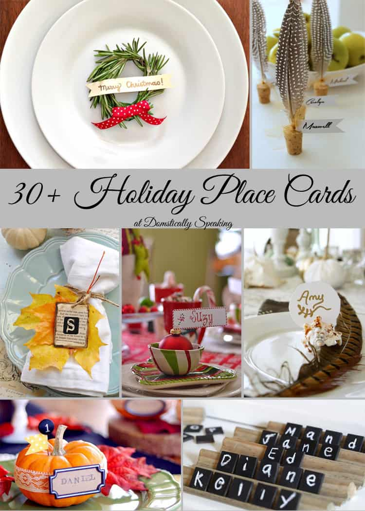 Holiday Place Cards Over 30 Place Cards for Thanksgiving and Christmas