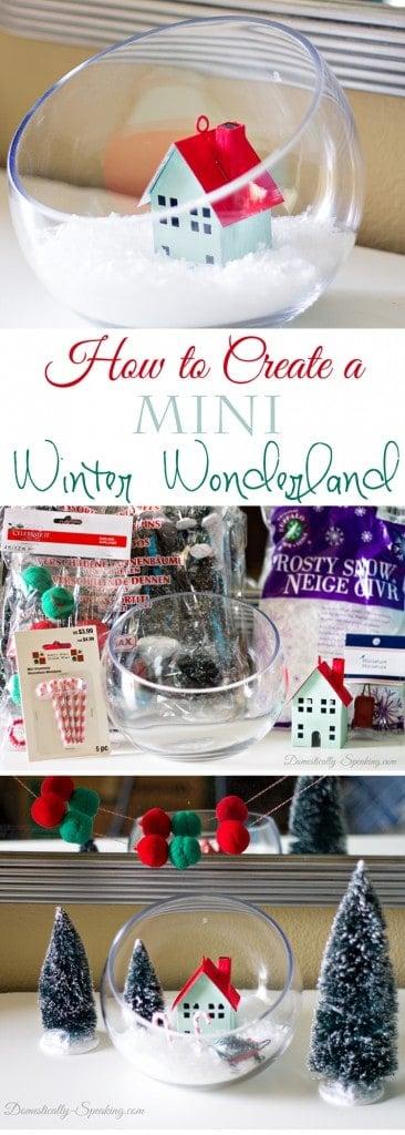 How to Create a Mini Winter Wonderland