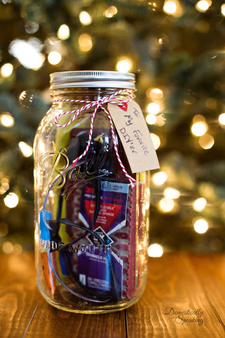 Mason Jar Gift for the DIY Lover - Domestically Speaking