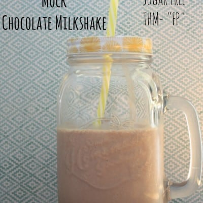Low Carb, Sugar Free Chocolate Milkshake