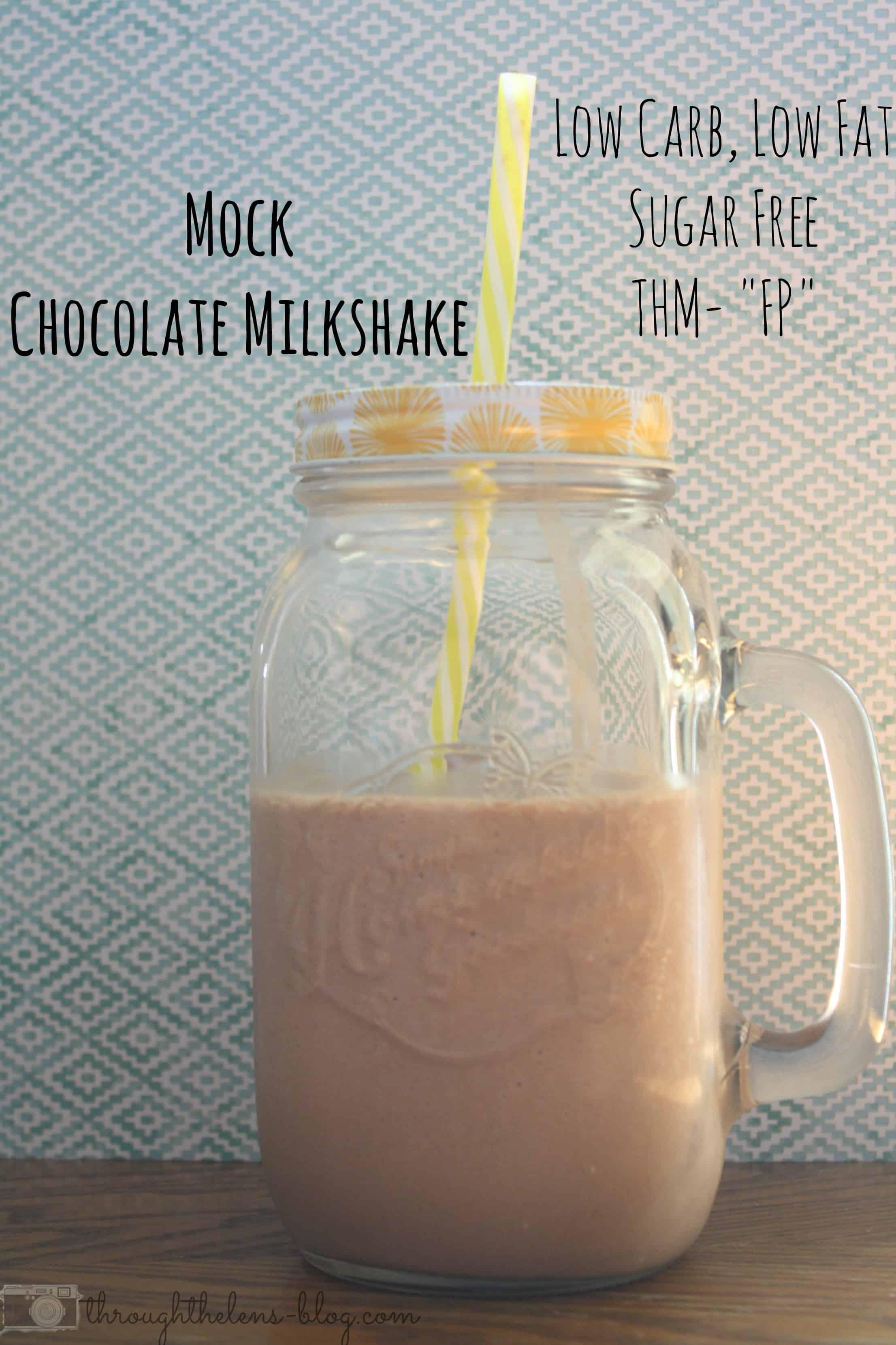 Low Carb, Sugar Free Chocolate Milkshake